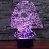 Image of Anakin Skywalker - Darth Vader Star Wars 3D LED Lamp
