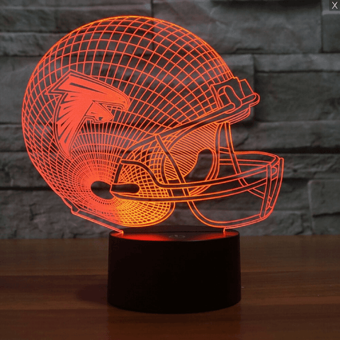 Image of Atlanta Falcons NFL 3D LED Lamp LEDMiracles