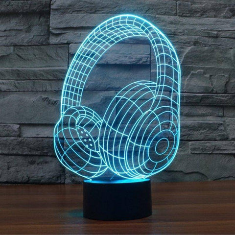 Beats (Headphones) 3D LED Lamp LEDMiracles