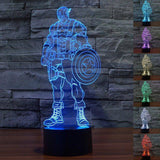 Image of Captain America + Avengers 3D LED Lamp