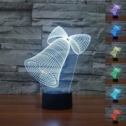 Christmas Bells 3D LED Lamp