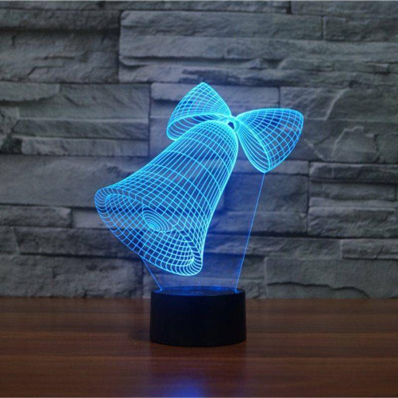 Christmas Bells 3D LED Lamp LEDMiracles