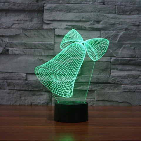 Image of Christmas Bells 3D LED Lamp LEDMiracles