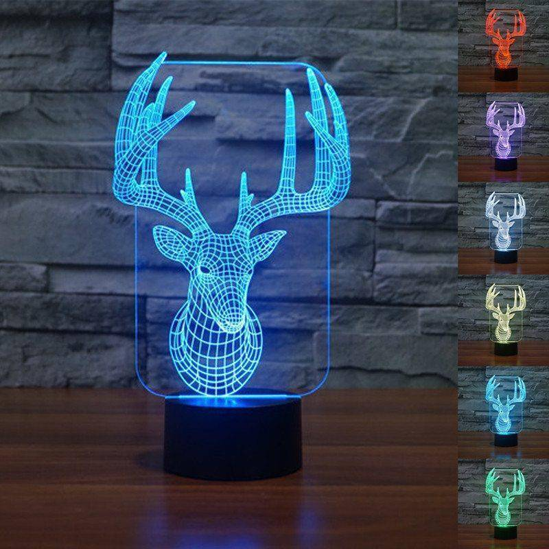 Christmas Reindeer 3D LED Lamp LEDMiracles Realistic