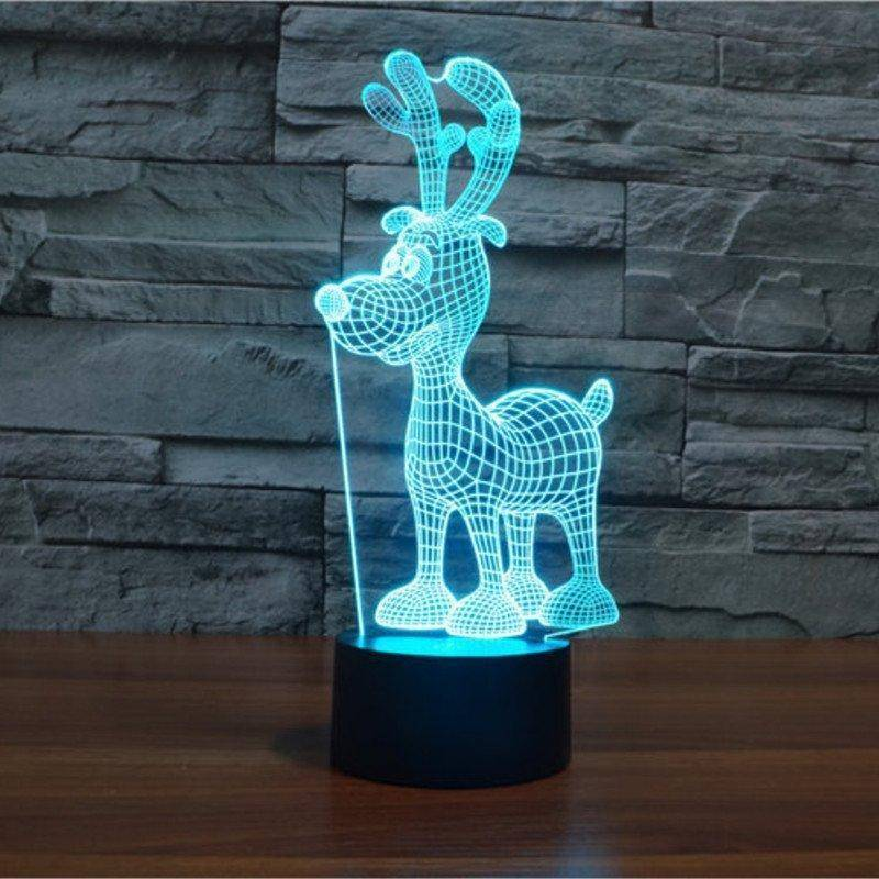 Christmas Reindeer 3D LED Lamp LEDMiracles