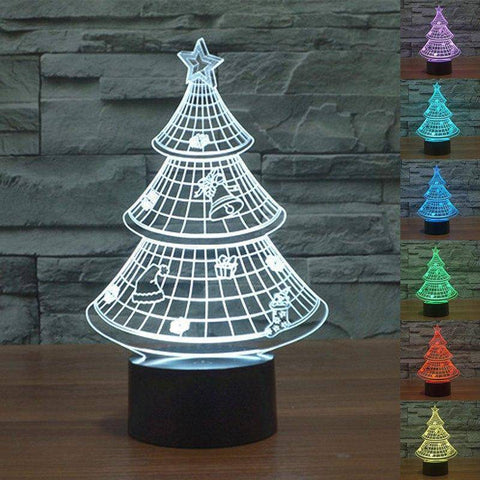 Image of Christmas Tree 3D LED Lamp LEDMiracles
