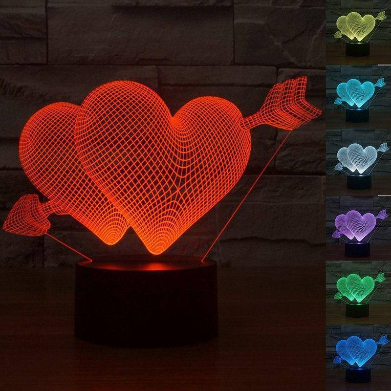 Cupid's Love 3D LED Lamp LEDMiracles