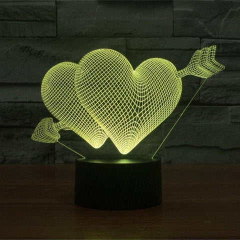 Image of Cupid's Love 3D LED Lamp LEDMiracles