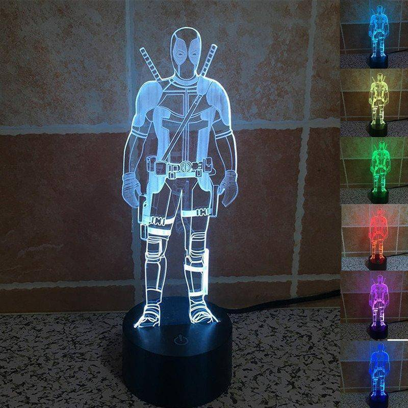 DeadPool 3D LED Lamp