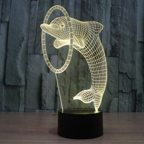Dolphin 3D LED Lamp LEDMiracles