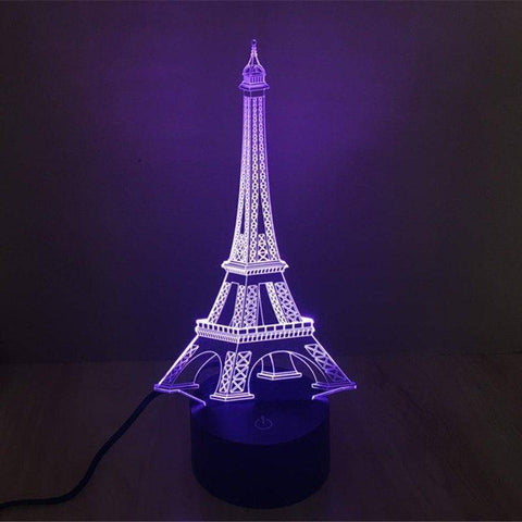 Image of Eiffel Tower 3D LED Lamp LEDMiracles