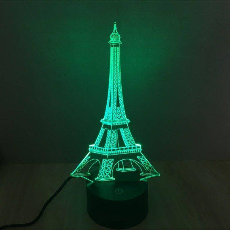 Eiffel Tower 3D LED Lamp