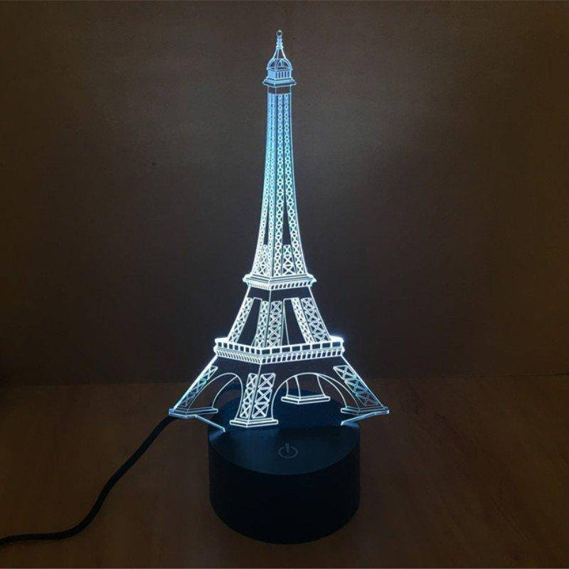 Eiffel Tower 3D LED Lamp LEDMiracles