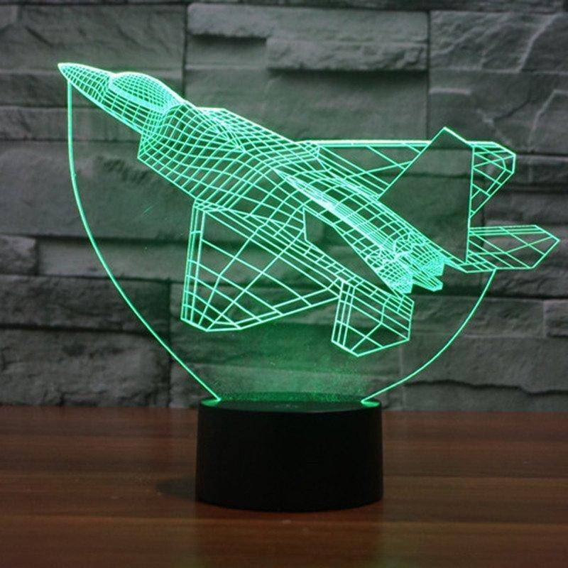 F15 Plane 3D LED Lamp LEDMiracles