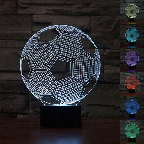 Football (Soccer) 3D LED Lamp