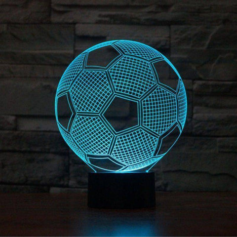 Football (Soccer) 3D LED Lamp LEDMiracles