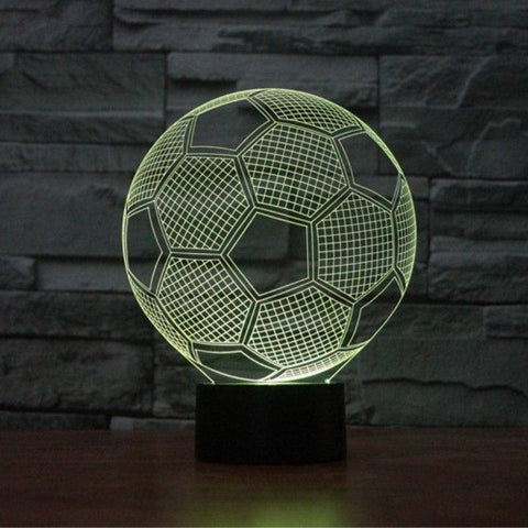 Image of Football (Soccer) 3D LED Lamp LEDMiracles