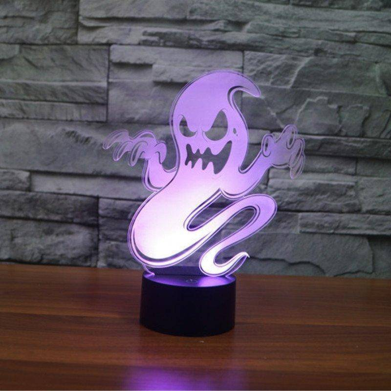 Ghost Of Halloween 3D LED Lamp
