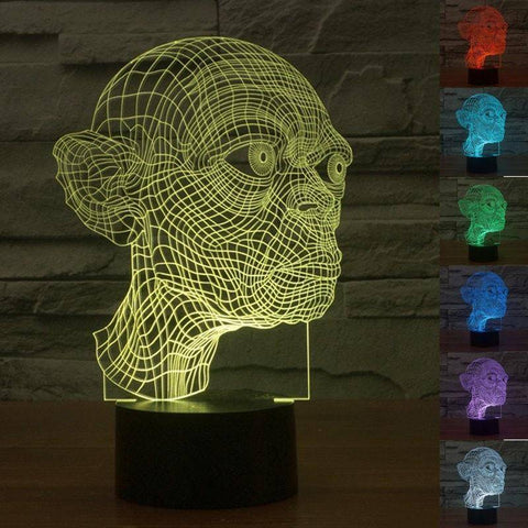 Gollum (Lord of The Rings) 3D LED Lamp