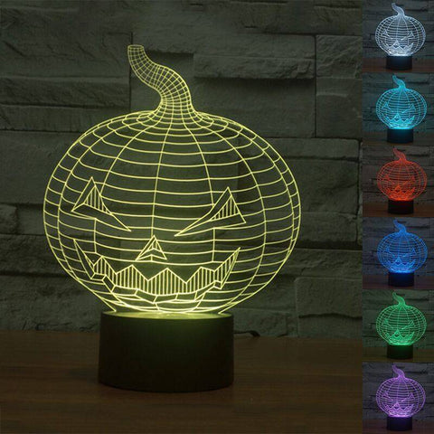 Halloween Pumpkin 3D LED Lamp