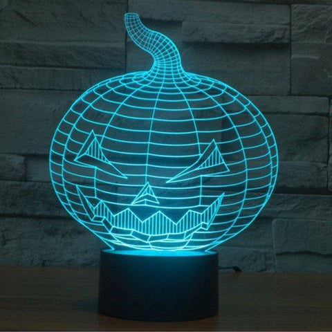 Image of Halloween Pumpkin 3D LED Lamp LEDMiracles