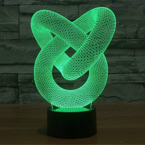 Image of Illusion Wrap 3D LED Lamp LEDMiracles