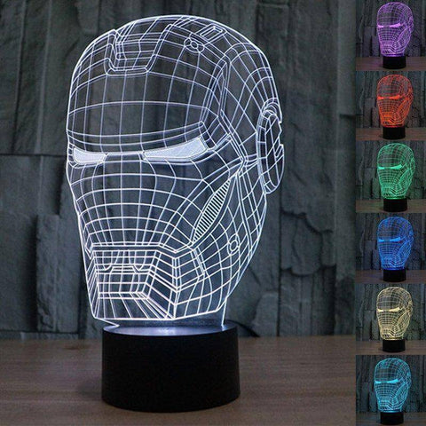Iron Man 2 3D LED Lamp
