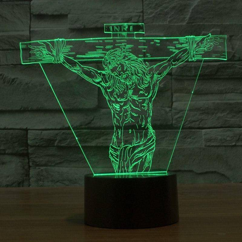 Jesus Christ 3D LED Lamp LEDMiracles
