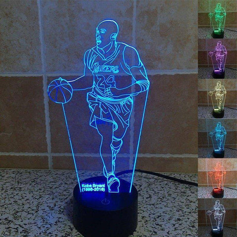 Kobe Bryant (LA Lakers) 3D LED Lamp LEDMiracles Dribbling