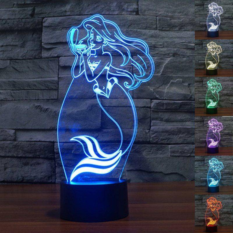 Little Mermaid 3D LED Lamp
