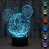 Image of Mickey Mouse 3D LED Lamp