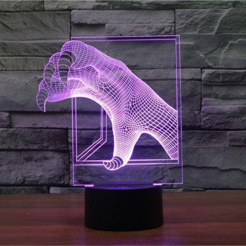 Monster Claws 3D LED Lamp LEDMiracles