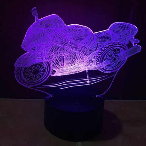 Image of Motorcycle 3D LED Lamp LEDMiracles