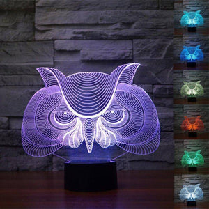 Owl 3D LED Lamp LEDMiracles