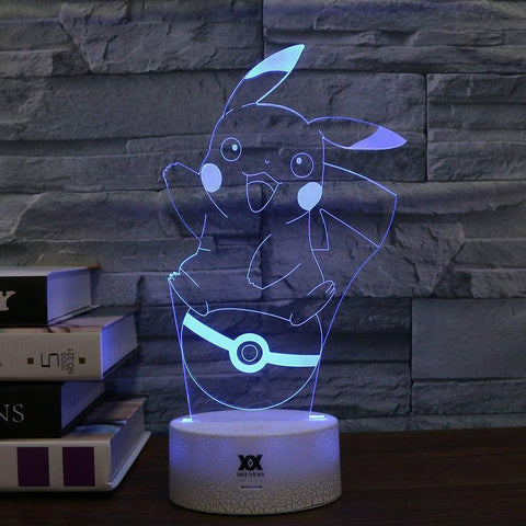 Pikachu Pokemon 3D LED Lamp LEDMiracles