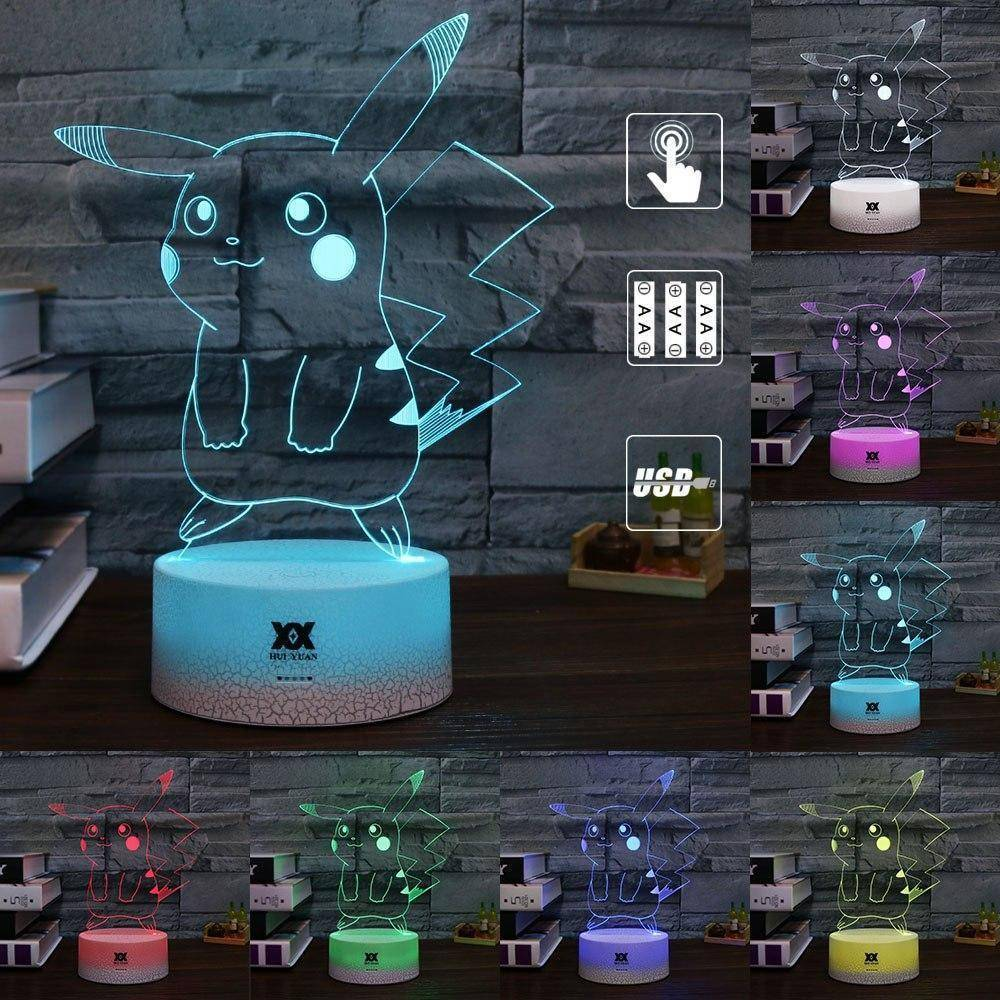 Pikachu Pokemon 3D LED Lamp