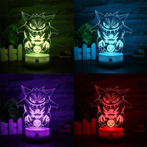 Image of Gengar Pokemon 3D LED Lamp LEDMiracles