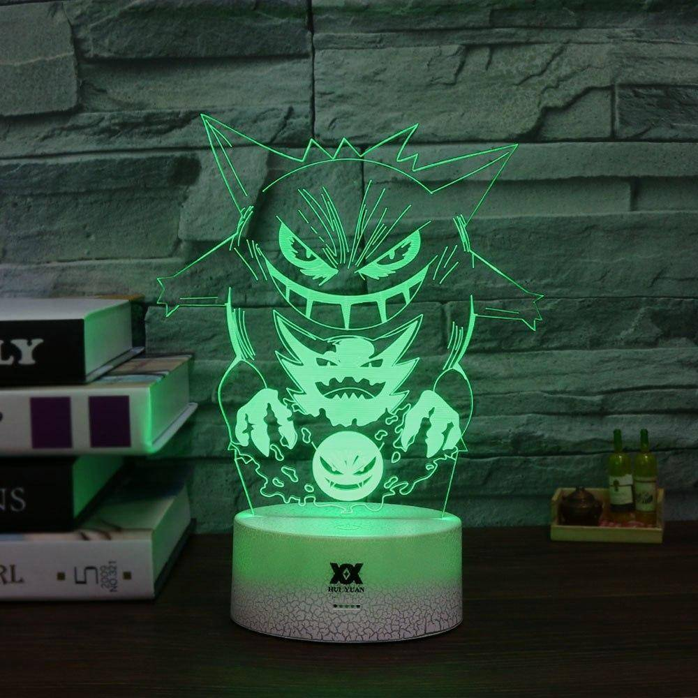 Gengar Pokemon 3D LED Lamp LEDMiracles