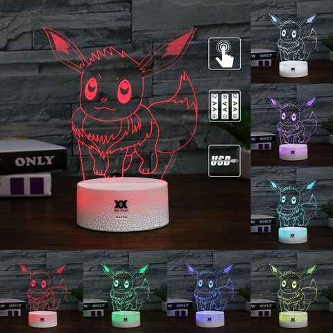 Eevee Pokemon 3D LED Lamp LEDMiracles