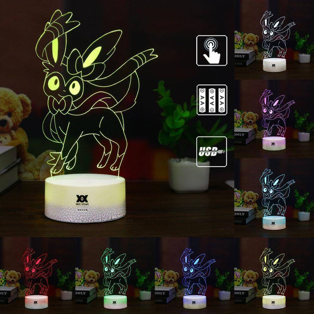 Sylveon Pokemon 3D LED Lamp