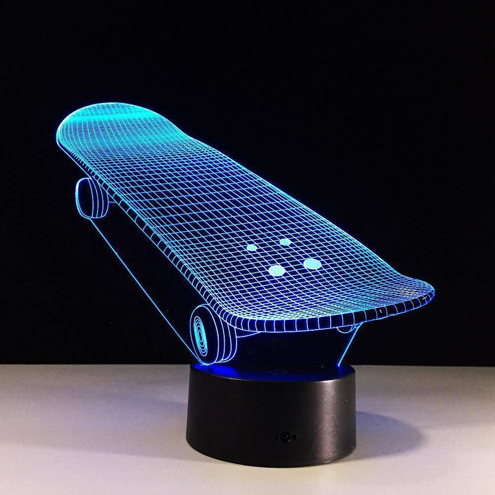 Skateboard 3D LED Lamp LEDMiracles