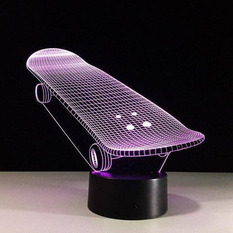 Image of Skateboard 3D LED Lamp LEDMiracles