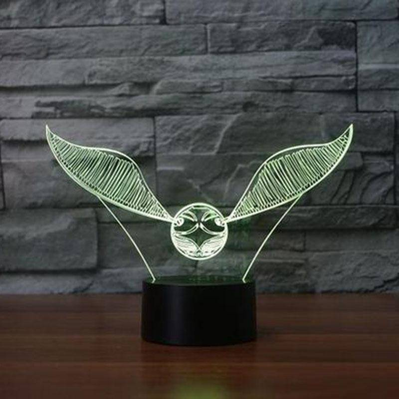 Golden Snitch 3D LED Lamp LEDMiracles