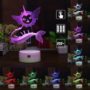 Vaporeon Pokemon 3D LED Lamp LEDMiracles