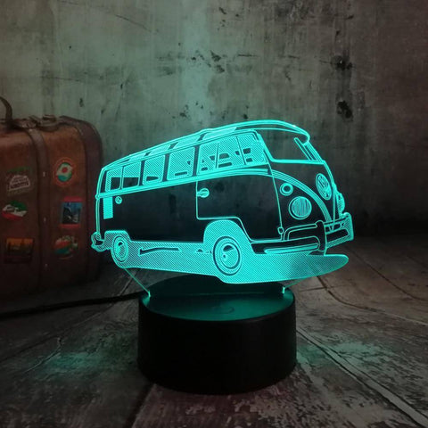 Patrol Bus 3D LED Lamp