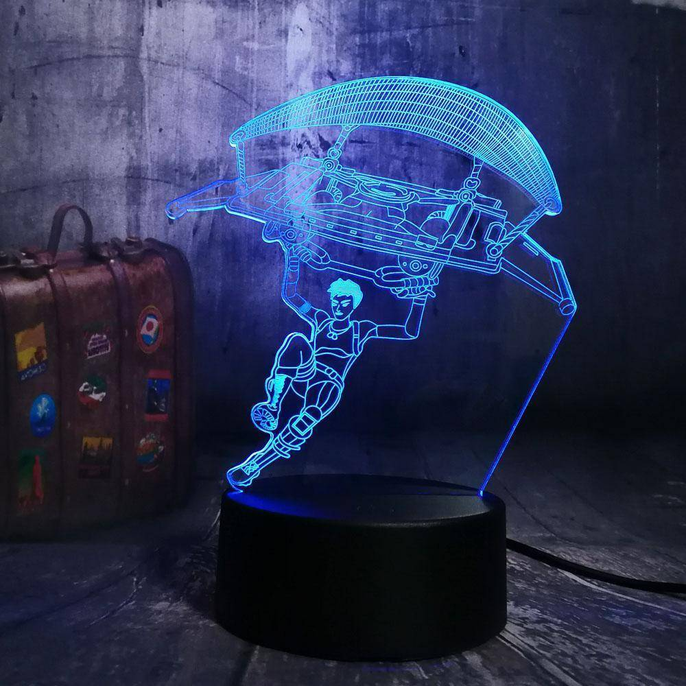 Parachute Fortnite 3D LED Lamp LEDMiracles