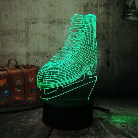 Ice Skates 3D LED Lamp LEDMiracles