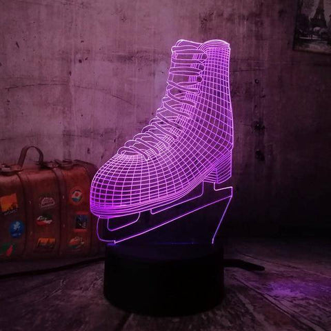 Ice Skates 3D LED Lamp LEDMiracles Default Title
