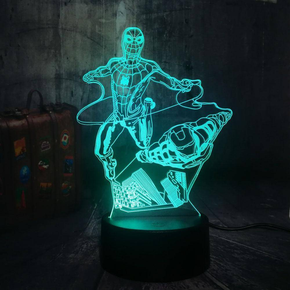 Flying Spiderman&Iron Man 3D LED Lamp LEDMiracles