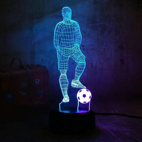 Play Football 3D LED Lamp LEDMiracles